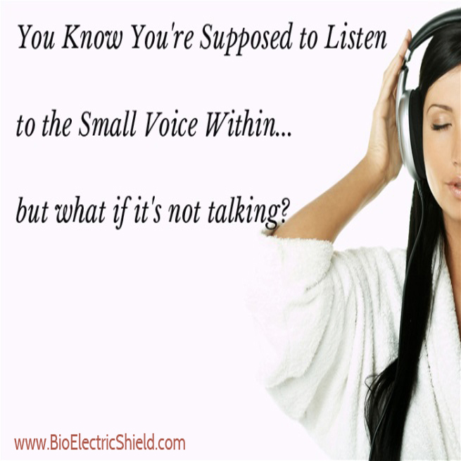 let your still small voice help you with decisions